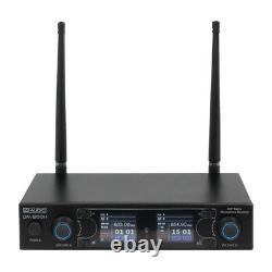W Audio DM 800h Twin Portable Uhf Radio Microphone Sans Fil Ch70 Dj Karaoke