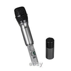 Wireless Microphone System 4 Channel 4 Handheld Metal MIC Pro Audio Uhf Karaoké