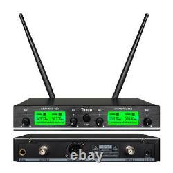 Wireless Microphone System 4 Channel Pro Audio Uhf 4 Handheld MIC Karaok École